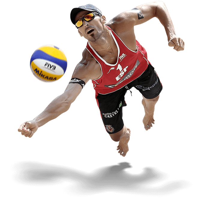Diving Man Volleyball